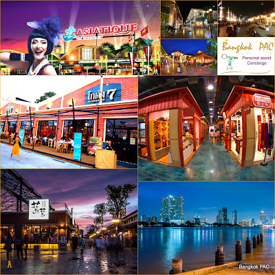 Asiatique the riverfront collage