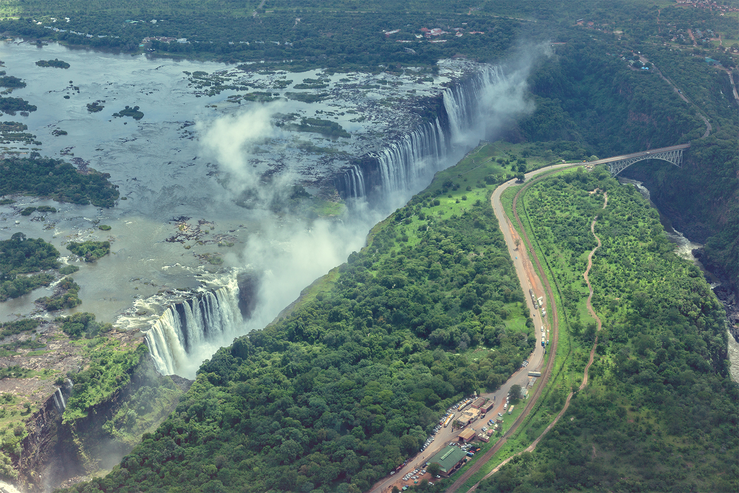 Victoria Falls – helicopter ride with lovely photos